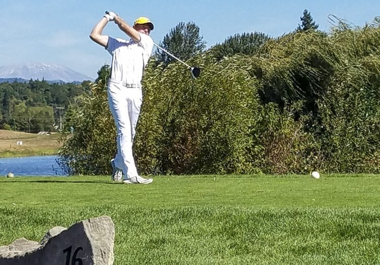 Keith Lobis of Union lost out in a playoff Tuesday to teammate Dylan Henry at the Jim Hudson Invitational. Lobis is the defending Class 4A district golf champion. Photo by Paul Valencia
