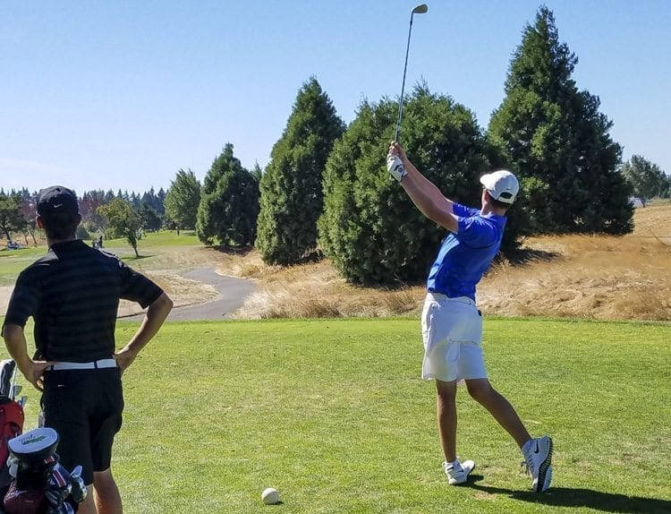Graham Moody of Mountain View made a splash for the Thunder when he shot a 30 for a nine-hole event earlier this month. Moody is one of the top freshmen in the region. Photo by Paul Valencia