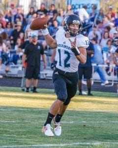 Hockinson Quarterback Canon Racanelli. Photo by Mike Schultz