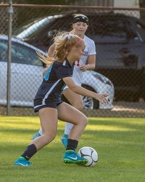 Hockinson standout Trinity Paulsen (13) and her teammates have high expectations for this high school girls soccer season. Photo by Mike Schultz