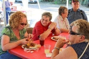 At the Kings for Cops fundraising barbecue Thursday in Woodland, guests enjoyed food provided by America's Family Diner, knowing their proceeds went to support police officers. Photo by Alex Peru