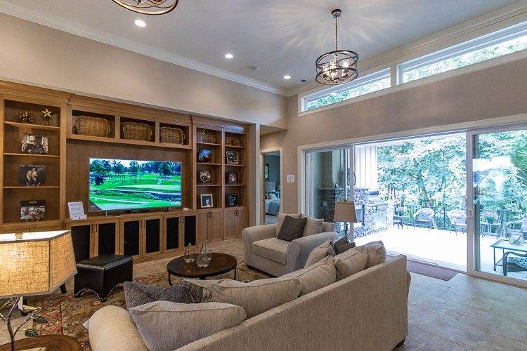 The Empty Nester by Quail Homes was designed to improve the quality of life for couples whose families have grown up and moved out, and features open spacious areas to help facilitate that. Photo by Mike Schultz