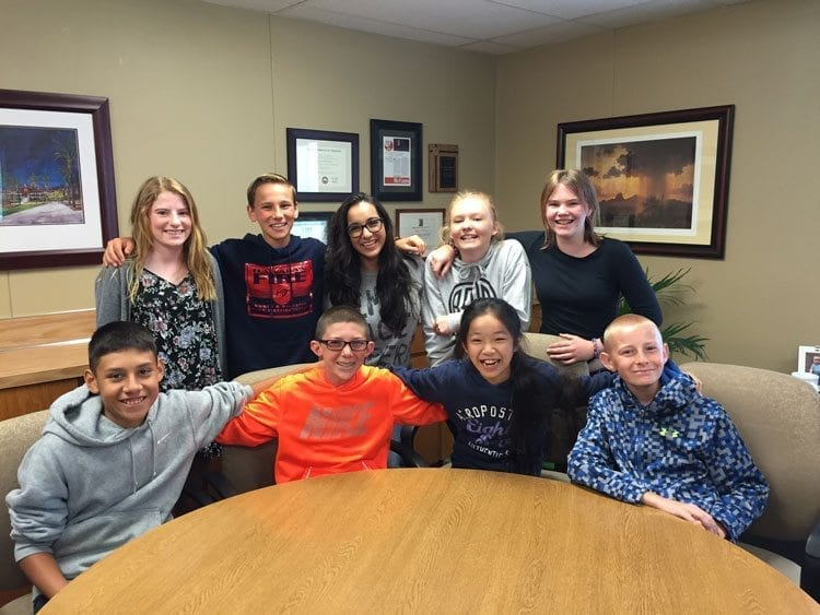 Members of Ridgefield School District's Superintendent's Student Advisory Council in 2016 who developed the concept for Experience Ridgefield. Photo courtesy of Ridgefield School District