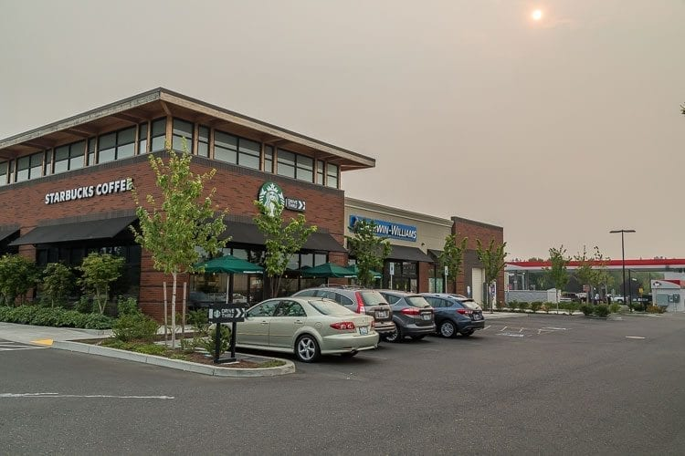 The Gaynor's Automotive development in Salmon Creek included the addition of a Sherwin Williams paint store, a Starbucks, a Banner Bank branch and a Fred Meyer gas depot. Photo by Mike Schultz