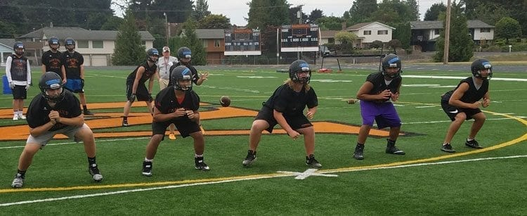 Washougal's offensive line stood out in the Panthers' win over Castle Rock last week. Photo by Paul Valencia