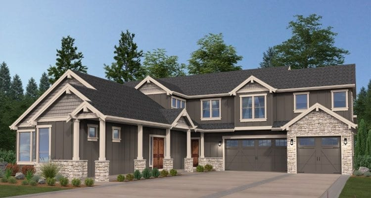 The Overbrooke, by Cascade West Development, offers spacious family living with views and access to local nature. Photo courtesy of NW Natural Parade of Homes