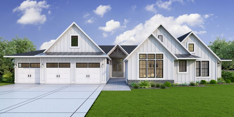 The Whitby was built by Generation Homes Northwest and draws on unique cues to create a modern farmhouse style. Photo courtesy of NW Natural Parade of Homes