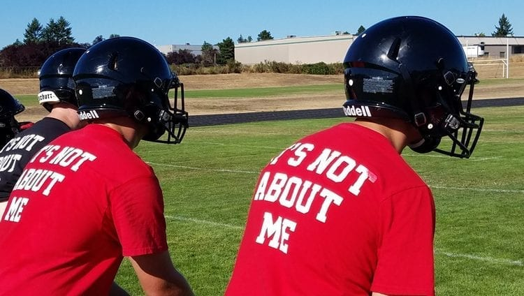 Fort Vancouver is focusing on 'small successes' as the Trappers attempt to change the culture of the their football program. Photo by Paul Valencia