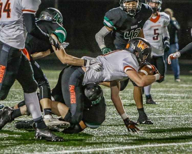 There's plenty left to compete for in the Class 2A Greater St. Helens League. Hockinson has clinched the league title and No. 1 seed and Columbia River, Washougal and Woodland are still sorting out the next three playoff spots. Photo by Mike Schultz
