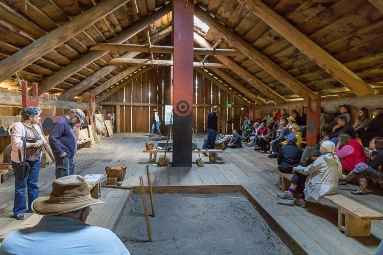 The Cathlapotle Plankhouse on the Ridgefield National Wildlife Refuge was open to the public for the last weekend until spring during the annual BirdFest celebration. Photo by Mike Schultz