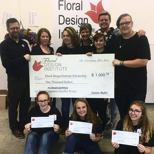 """Woodland High School's two floral design teams swept first and second place at the Floral Design Institute's """"Florachopped"""" competition. Photo courtesy of Woodland Public Schools"""