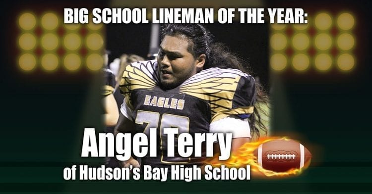 Angel Terry of Hudson's Bay is ClarkCountyToday's big school Lineman of the Year.