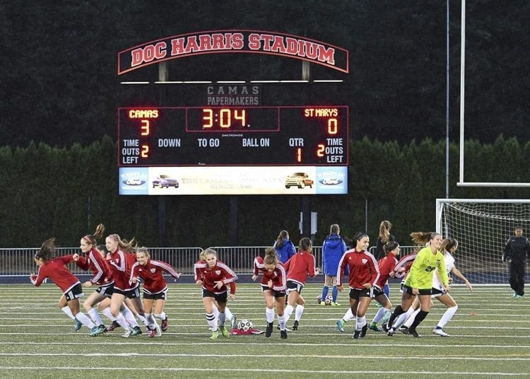 The success of the Camas girls soccer program can be attributed to the program's core values. Each player must read the program's handbook, then sign a player contract that details the responsibility of the coaches and players. Photo by Kris Cavin