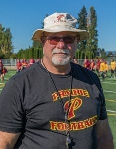 Kevin Baker resigned as Prairie's football coach Wednesday. Photo by Mike Schultz