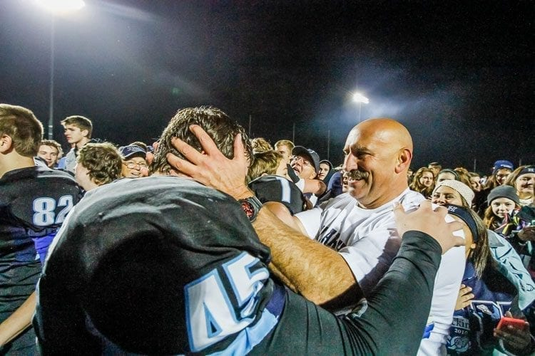 Rick Steele has compiled an 82-52 record after starting the Hockinson football program in 2004. The Hawks are 42-5 the past four seasons and are playing for a state championship Saturday in the Tacoma Dome. Photo by Mike Schultz