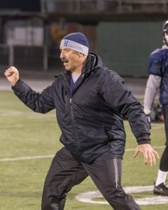 Rick Steele started the Hockinson football program and has been the head coach coach for 13 of its 14 seasons. After 30 years in the coaching profession, he will be coaching in his first state championship game Saturday. Photo by Mike Schultz
