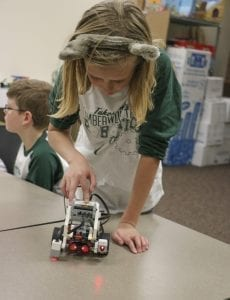 The LEGO Robotics Club at Tukes Valley Middle School will get a boost thanks to OSPI grants. Photo courtesy of Battle Ground School District