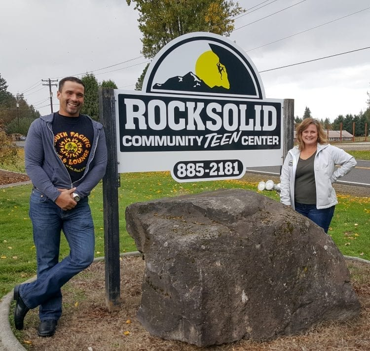 South Pacific Cafe helps Rocksolid Teen Center get new sign
