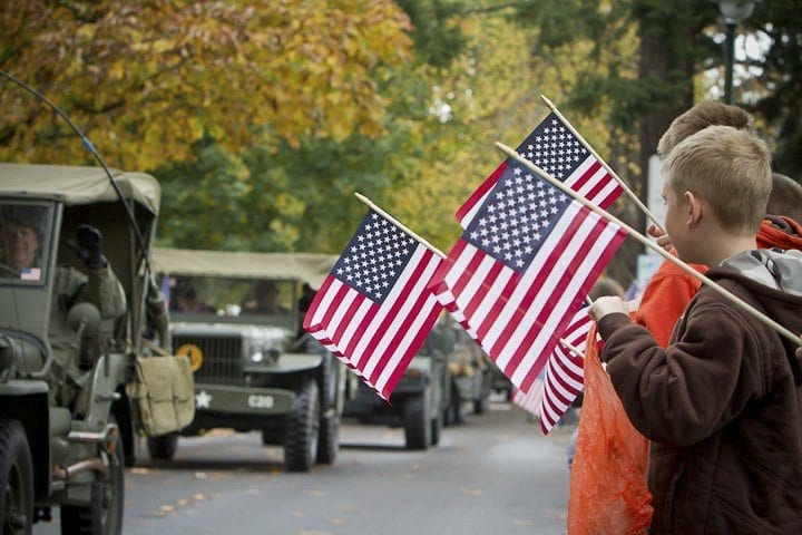 The Veterans Day Parade will feature many groups, including civic organizations and historic preservation groups. Photo by Mike Schultz