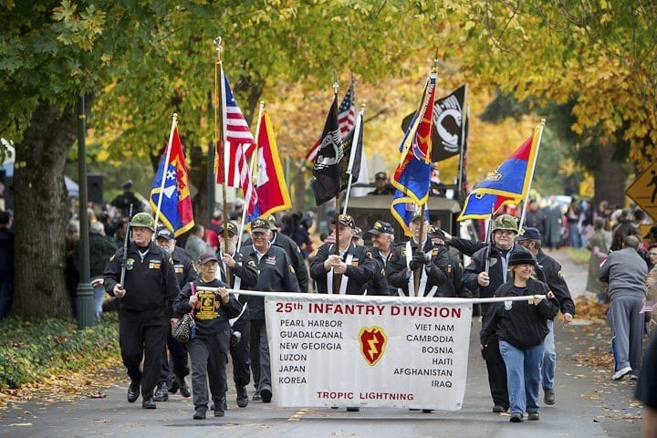 Organizations recognizing specific military units will appear in the annual parade. Photo by Mike Schultz