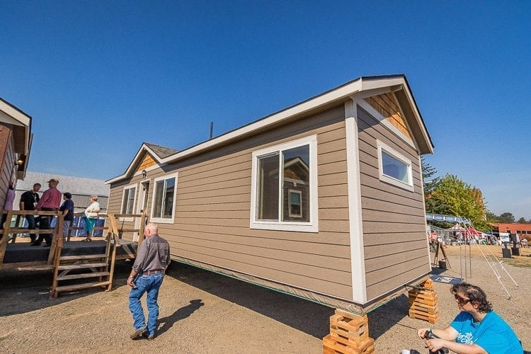 Tiny homes are freestanding, fully contained dwellings that are built on a foundation, such as this house built by Wolf Industries Inc. displayed at a show at the Clark County Fairgrounds. Proposed changes to the county building code would provide a clear definition of the structures, and a minimum of 150 square feet requirement. Photo by Mike Schultz