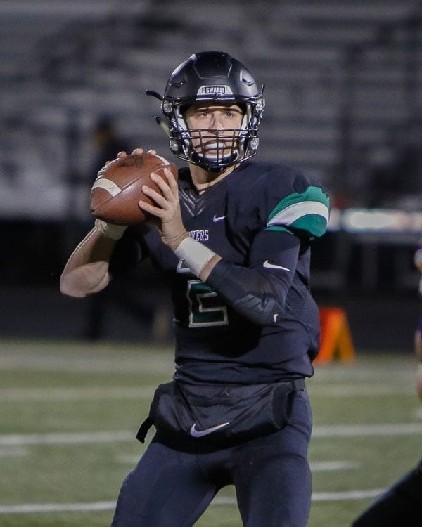 Quarterback Wyatt Harsh (2) and the Woodland Beavers return to the playoffs for the first time since 2014, Harsh's freshman season. Photo by Mike Schultz