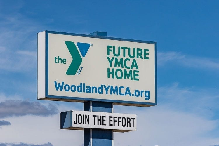 A bond that would have helped fund a pool and YMCA where Woodland's Lakeside Motel currently stands failed to pass during the Nov. 7 election. Photo by Mike Schultz