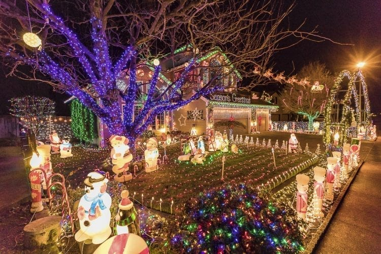 Some homes shine like beacons greeting the arrival of Christmas with their elaborate and bright displays of Christmas lights and decorations, as with this property at 15309 NE 7th Street in Vancouver. Photo by Mike Schultz
