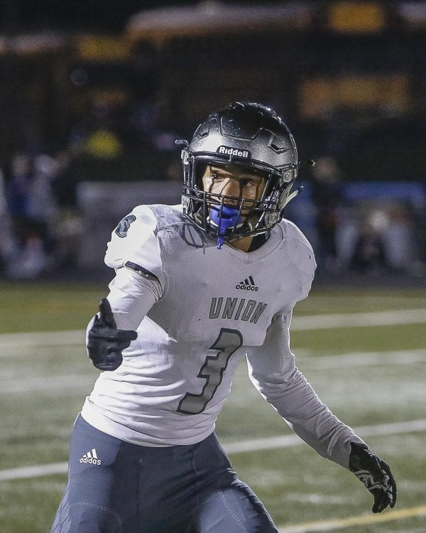 Union receiver Darien Chase was named to the Associated Press Class 4A high school football all-state team. Photo by Mike Schultz
