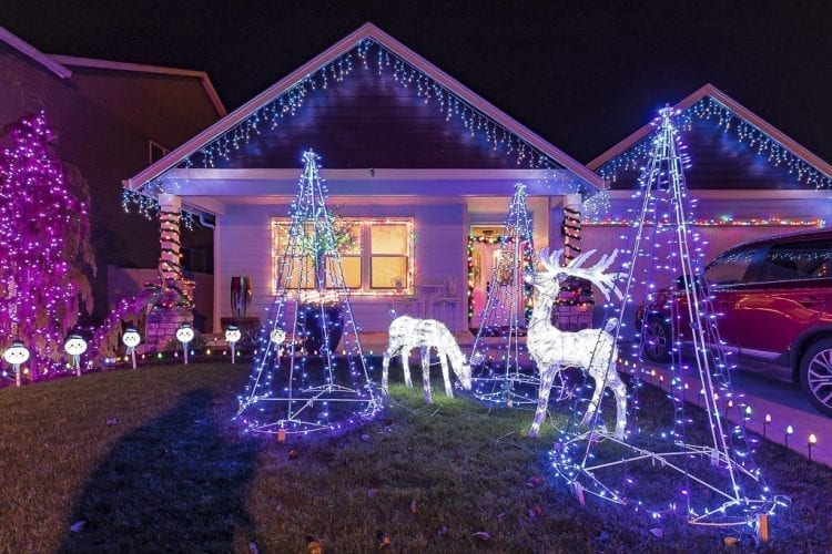 Some homeowners choose to convey holiday spirit with light displays that are simple, but still help light up the neighborhood with Christmas cheer, such as this house at 2207 NW 5th Street in Battle Ground. Photo by Mike Schultz
