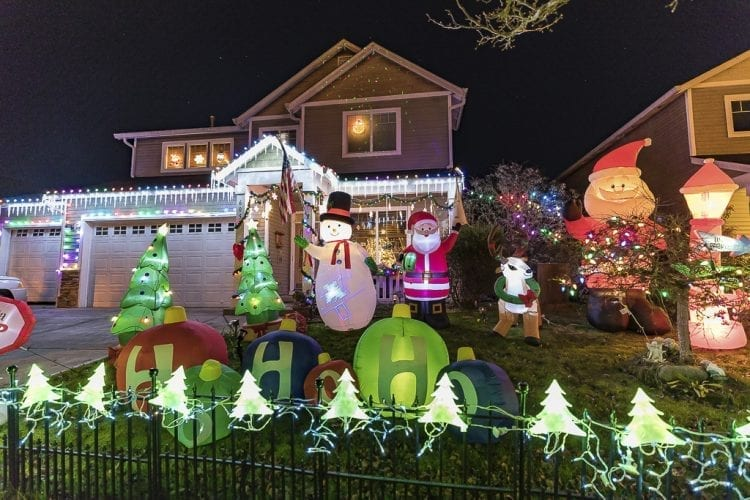 Decorating houses with Christmas lights is a holiday tradition for many. Many houses around Clark County, including this one at 605 NW 23rd Avenue in Battle Ground, have been decorated with eye catching light displays. Photo by Mike Schultz