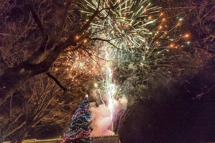 The Hometown Holidays event centered around the lighting of the Christmas tree and accompanying fireworks display at the Liberty Theatre in downtown Camas. Photo by Mike Schultz