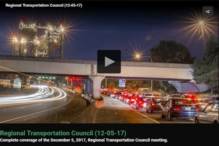 Southwest Washington Regional Transportation Council's discussion about a letter opposing Oregon's proposed tolling on I-5 and I-205, including Camas resident's public comments. Video courtesy of CVTV. Click to open.