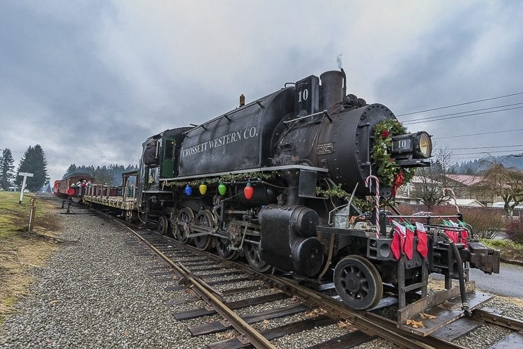 The Chelatchie Prairie Railroad's restored steam train was built by ALCO in 1929 and is painted to represent its first operator, Oregon logging company Crossett Western Company. The engine has been operated by the railroad since 2006. Photo by Mike Schultz