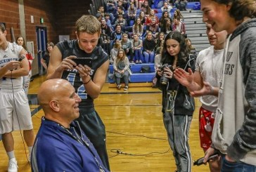 Hockinson coach Rick Steele honors a deal with player