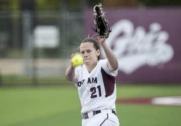 Colleen Driscoll impressed teammates, coaches, and University of Montana officials with her perseverance through the years, overcoming heartache, injuries and surgery in order to play Division I softball. She was named the GoGriz.com's Person of the Year. Photo courtesy of GoGriz.com