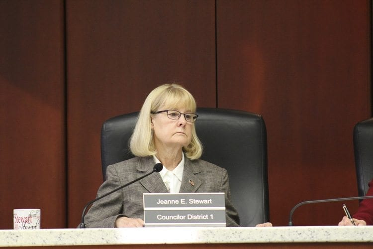 Council Member Jeanne Stewart (shown in this file photo) expressed concerns that having all property owners in Clark County pay to help fund the Clark Conservation District, even though not all residents use it, would not be fair to her constituents in the urban District 1. Photo by Alex Peru
