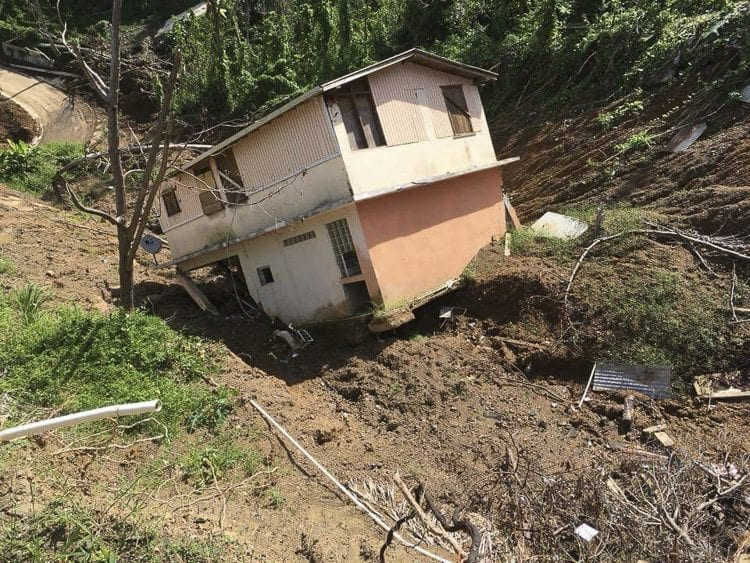 Corozal, Puerto Rico, is a mountain town, and therefore has suffered from mudslides in the wake of September's Hurricane Maria. Relief efforts are ongoing, and include a local fundraiser to help raise money to purchase and distribute supplies to residents in Corozal. Photo courtesy of Stephanie Collazo-Serrano/Youth 4 Vets