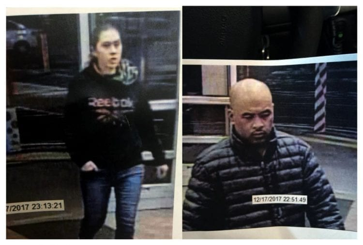 The Battle Ground Police Department is seeking the public's help to identify two subjects, a male and female, associated with an Attempting to Elude case. Photo courtesy of city of Battle Ground