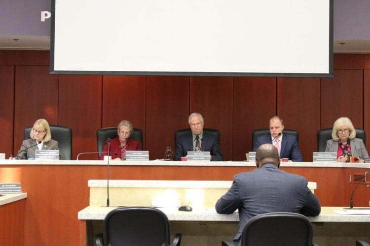 Members of the Board of County Councilors voted to approve changes that expand eligibility under the county code for veterans assistance to local veterans during a meeting Tuesday morning. Photo by Alex Peru