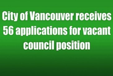 City of Vancouver receives 56 applications for vacant council position