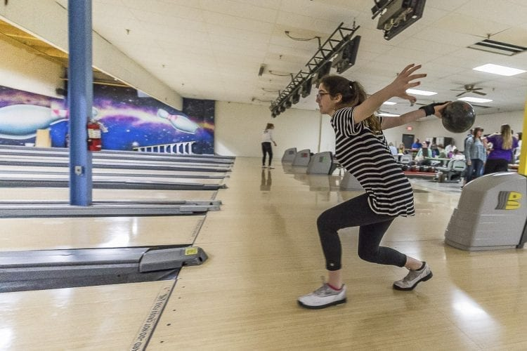Hudson's Bay senior Reagan Lorey has finished in the top five at the state bowling championships in her previous three seasons. She is looking to go out on top in her final year of high school competition. Photo by Mike Schultz