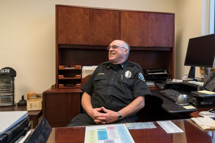 Battle Ground Police Lieutenant Roy Butler will retire today after serving 25 years in Battle Ground. A reception will be held in Butler's honor from 4-6 p.m. today (Fri., Jan. 26) at the Battle Ground Police Department, and the public is encouraged to attend. Photo by Mike Schultz