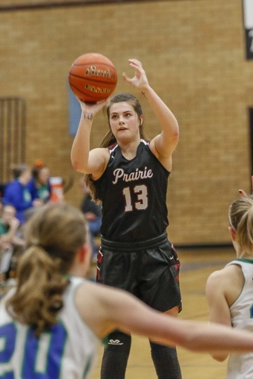 Prairie co-captain Brooke Walling said this year's Falcons are proving people wrong, by being better than last season despite having no seniors on the squad. Photo by Mike Schultz