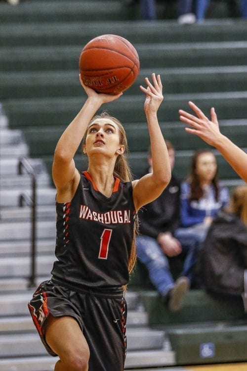 Alexis Maniscalco came off the bench to score four points for Washougal. Coach Britney Knotts noted after the game that she has the luxury of a deep bench, allowing her to rely on reserves to keep her team's momentum. Photo by Mike Schultz