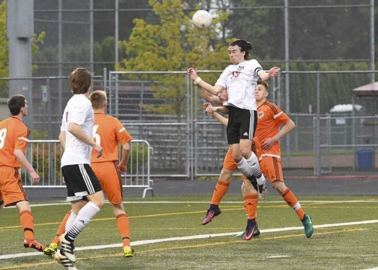 Camas soccer standout Dominic Fewel is going to the Pac-12. He signed with Oregon State. Photo courtesy of Kris Cavin