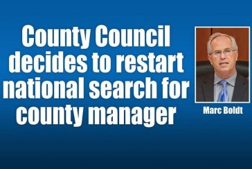 County Council decides to restart national search for county manager