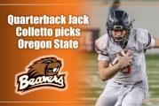 Quarterback Jack Colletto picks Oregon State