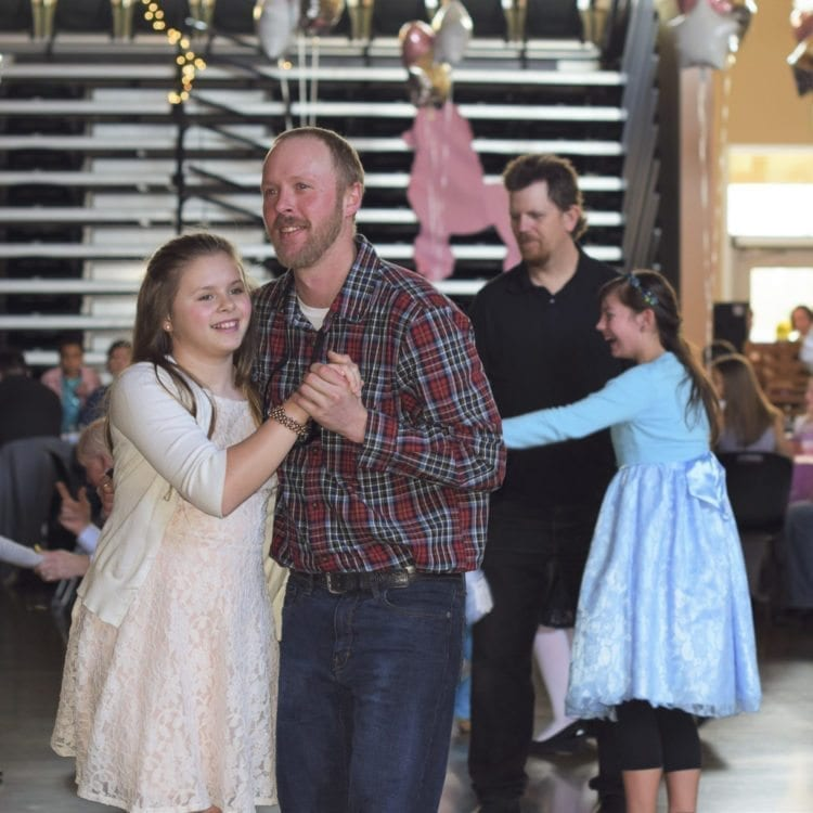 About 1,200 guests attended this year's Woodland Father/Daughter Ball held Saturday at Woodland High School. Photo courtesy of Grace Community Church