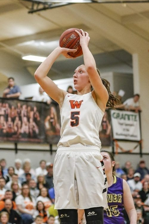 Washougal junior Beyonce Bea was voted first team all state for Class 2A girls basketball by media members throughout Washington. Photo by Mike Schultz